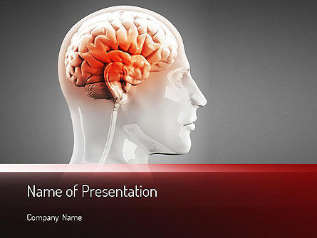 Thalamic Surface PowerPoint Template, 11260, Medical — PoweredTemplate.com