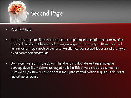 Thalamic Surface PowerPoint Template, Slide 2, 11260, Medical — PoweredTemplate.com