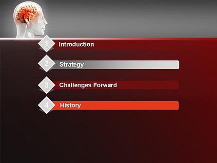 Thalamic Surface PowerPoint Template, Slide 3, 11260, Medical — PoweredTemplate.com