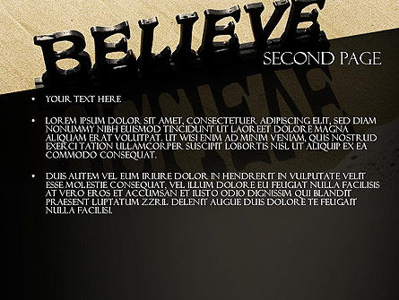 Believe PowerPoint Template Slide 2