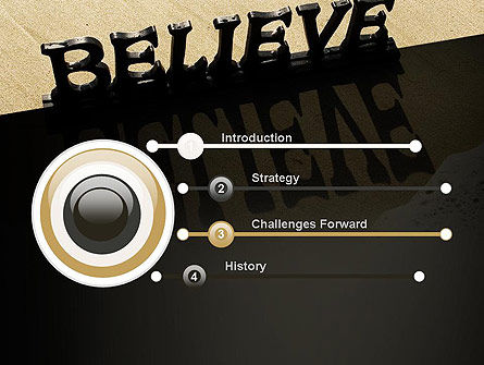 Believe PowerPoint Template Slide 3