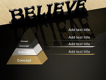 Believe PowerPoint Template, Slide 4, 11262, Education & Training — PoweredTemplate.com