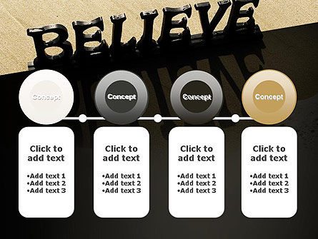 Believe PowerPoint Template Slide 5