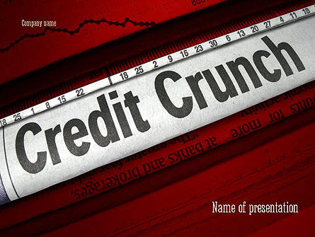 Credit Crunch Headline PowerPoint Template, 11263, Financial/Accounting — PoweredTemplate.com