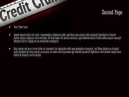 Credit Crunch Headline PowerPoint Template, Slide 2, 11263, Financial/Accounting — PoweredTemplate.com