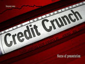 Financial/Accounting: Credit Crunch Headline PowerPoint Template #11263