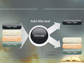 Open Bible with Light Rays PowerPoint Template#15