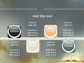Open Bible with Light Rays PowerPoint Template#18