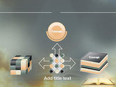 Open Bible with Light Rays PowerPoint Template#19