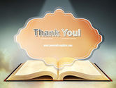 Open Bible with Light Rays PowerPoint Template#20