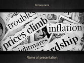 Financial/Accounting: Great Recession PowerPoint Template #11266