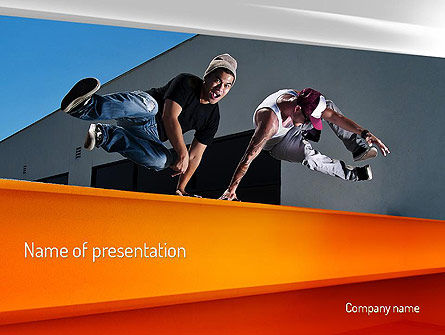 Sports: Parkour PowerPoint Template #11268