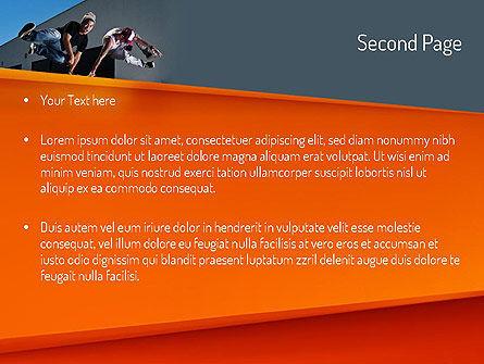 Parkour PowerPoint Template, Slide 2, 11268, Sports — PoweredTemplate.com