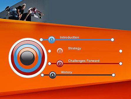 Parkour PowerPoint Template, Slide 3, 11268, Sports — PoweredTemplate.com