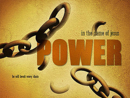 He Will Break Every Chain PowerPoint Template, 11270, Religious/Spiritual — PoweredTemplate.com