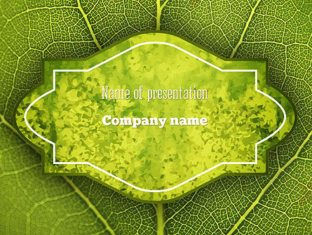Nature & Environment: Green Leaf Structure PowerPoint Template #11271