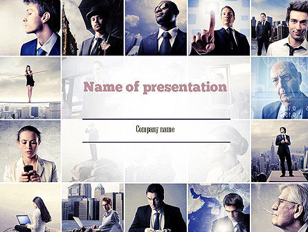 Business in Action PowerPoint Template, 11272, Business — PoweredTemplate.com