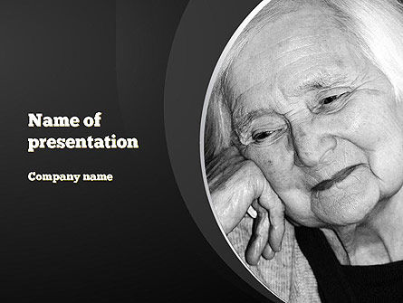 Geriatric Woman PowerPoint Template, 11274, People — PoweredTemplate.com