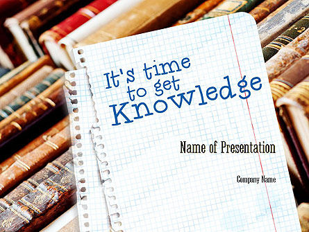 Education & Training: Old Knowledge PowerPoint Template #11277