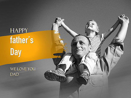 Happy Father's Day PowerPoint Template, 11278, Holiday/Special Occasion — PoweredTemplate.com