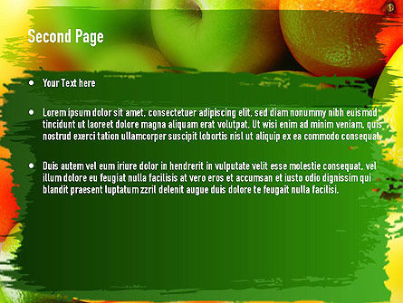 Vivid Fruits PowerPoint Template, Slide 2, 11279, Food & Beverage — PoweredTemplate.com