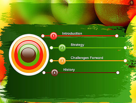 Vivid Fruits PowerPoint Template, Slide 3, 11279, Food & Beverage — PoweredTemplate.com