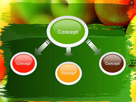 Vivid Fruits PowerPoint Template, Slide 4, 11279, Food & Beverage — PoweredTemplate.com