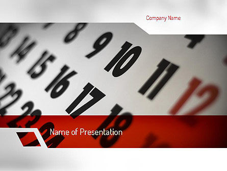 Careers/Industry: Events Calendar PowerPoint Template #11281