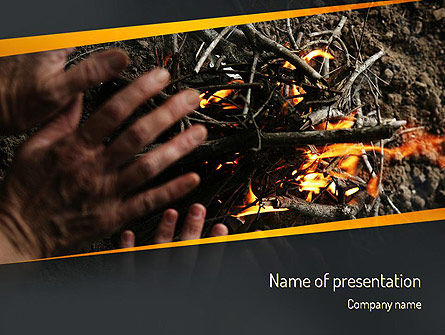 Bonfire Warmth PowerPoint Template, 11282, General — PoweredTemplate.com
