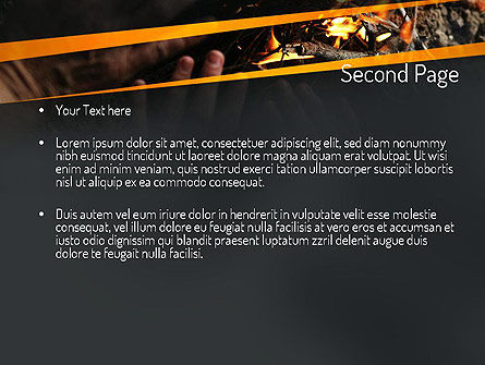 Bonfire Warmth PowerPoint Template, Slide 2, 11282, General — PoweredTemplate.com