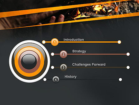 Bonfire Warmth PowerPoint Template, Slide 3, 11282, General — PoweredTemplate.com