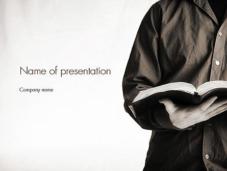 Reading a Book PowerPoint Template, 11284, Education & Training — PoweredTemplate.com