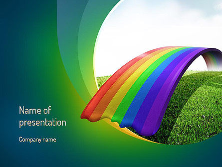 Rainbow Bridge PowerPoint Template, 11287, Education & Training — PoweredTemplate.com