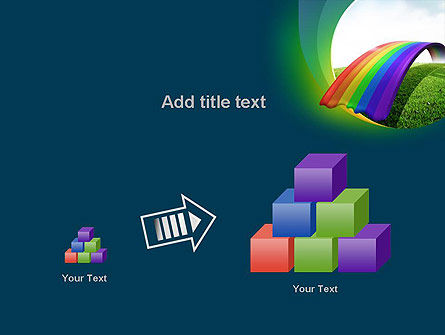 Rainbow Bridge PowerPoint Template Slide 13