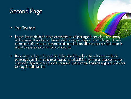 Rainbow Bridge PowerPoint Template, Slide 2, 11287, Education & Training — PoweredTemplate.com