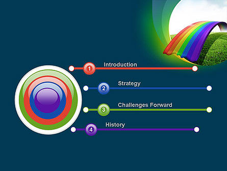 Rainbow Bridge PowerPoint Template, Slide 3, 11287, Education & Training — PoweredTemplate.com