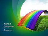 Education & Training: Rainbow Bridge PowerPoint Template #11287