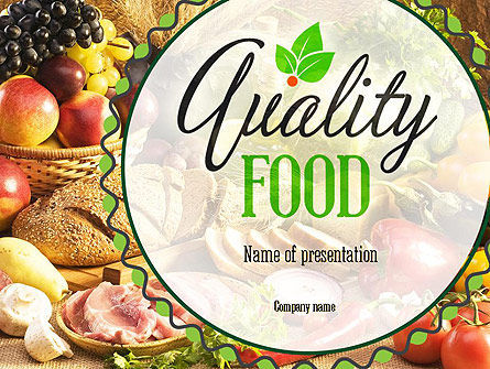 Quality Food PowerPoint Template, 11288, Food & Beverage — PoweredTemplate.com