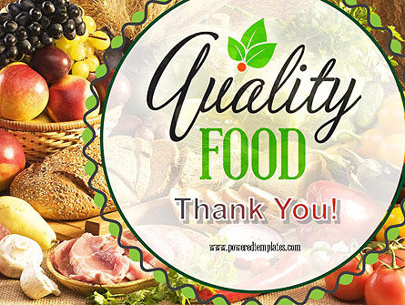 Quality Food PowerPoint Template Slide 20