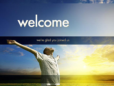 Blessing PowerPoint Template, 11289, Religious/Spiritual — PoweredTemplate.com