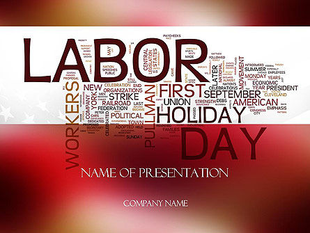 Labor Day Word Cloud PowerPoint Template