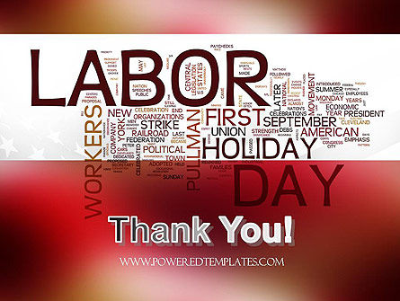 Labor Day Word Cloud PowerPoint Template Slide 20