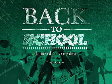 Welcome Back To School PowerPoint Template, 11293, Education & Training — PoweredTemplate.com