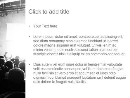 Silhouettes of Concert Crowd PowerPoint Template, Slide 3, 11294, Art & Entertainment — PoweredTemplate.com