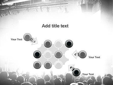 Silhouettes of Concert Crowd PowerPoint Template Slide 10