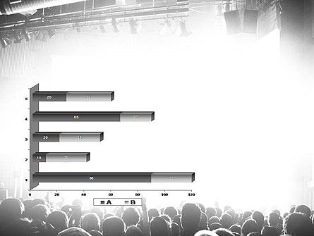 Silhouettes of Concert Crowd PowerPoint Template Slide 11