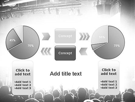 Silhouettes of Concert Crowd PowerPoint Template Slide 16