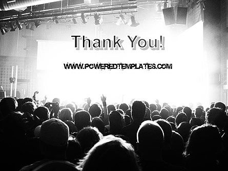 Silhouettes of Concert Crowd PowerPoint Template Slide 20