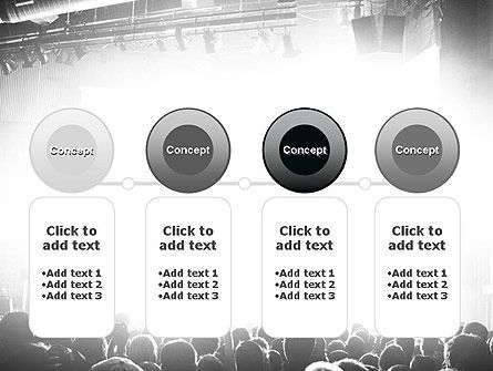 Silhouettes of Concert Crowd PowerPoint Template Slide 5