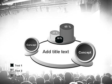 Silhouettes of Concert Crowd PowerPoint Template Slide 6